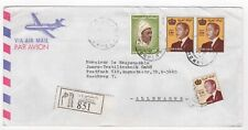 1992 MOROCCO Registered Air Mail Cover MEKNES to ESCHWEGE GERMANY Pair