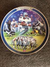 "Bradford Exchange Troy Aikman Collector Plate # 15785 A"" Dallas Cowboys"