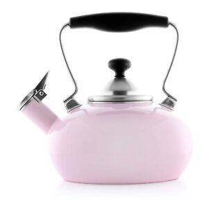 Chantal 37-1LB PN Enamel-on-Steel Zenith Teakettle, 1.8 quart, Pink