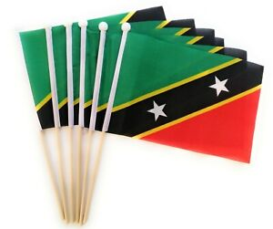 St Kitts & Nevis Waving Hand Flag 6 Pack FREE UK DELIVERY!