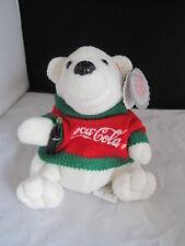 Nwt Coca Cola Polar Bear in Sweater Style 0116 Bean Bag Plush 1997