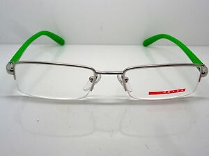 NEW PRADA SPORT VPS 57B 1BC-1O1 Silver/Green 51mm Eyeglasses