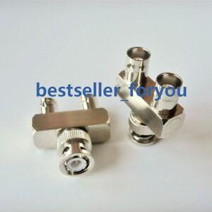 BNC male plug to 2x BNC female jack Y type Splitter connector 1M2F Adapter