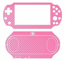 Pink Carbon Fiber Vinyl Decal Skin Sticker for Sony PlayStation PS Vita PSV 2000
