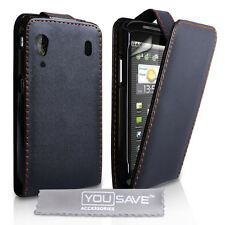 Accessories For The ZTE Skate V960 Black PU Leather Flip Case Cover & Film UK