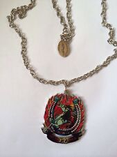 Men's Ed Hardy Horse in Fire Necklace on a 24inch Stainless Steel Chain