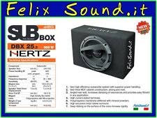 HERTZ DBX 25.3 SUBWOOFER 600 WATT MAX  POWER  PASSIVO   IN CASSA   CHIUSA