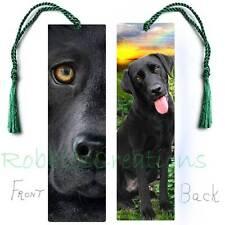 BLACK LABRADOR RETRIEVER Large BOOKMARK w/Tassel LAB Dog Art Book Mark CARD Mix