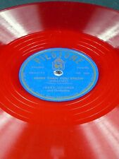 Pilotone Red Vinyl Jerry Cooper MORE THAN YOU KNOW / GOD NIGHT SWEETHEART 78 E