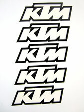 5 KTM Decal Decals Sticker Stickers Graphics FX Licenced White / Black SX XC EXC