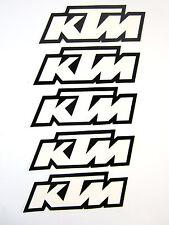 5 KTM Decal Decals Sticker Stickers Graphics FX Licenced White / Black SX XC EXC