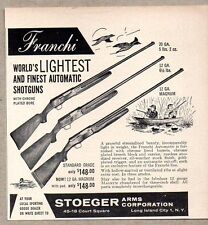 1958 Print Ad Franchi Automatic Shotguns Stoeger Arms Long Island City,NY
