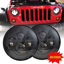"Dot Approved 7"" Round Osram LED Headlight Hi/Low Beam For Jeep Wrangler JK TJ CJ"