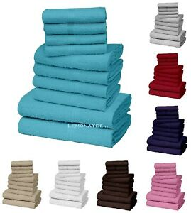 100% PURE EGYPTIAN COTTON FACE HAND BATH TOWEL SOFT THICK 1 TO 10 PIECE BALE SET