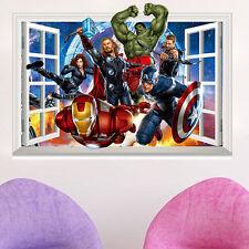 Super Hero Avengers Wall Decal Sticker Boys Bedroom Decor Art Mural Hulk Ironman