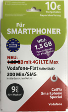 Vodafone D2 CallYa NANO Sim Prepaid Sim-Karte - Smartphone SPECIAL - NEU