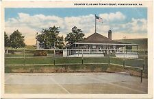 Country Club and Tennis Court in Punxsutawney PA Postcard