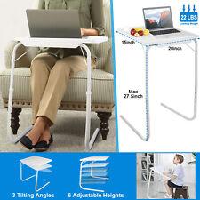 Portable Foldable Sofa Table TV Dinner Bed Adjustable Tray Laptop Desk Side Tabl