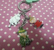 Moomin Valley Character Moomintroll Little My Snufkin Metal Keychain