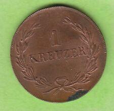 Baden 1 Kreuzer 1822 Stempelglanz kleiner Fleck Prachtstück nswleipzig