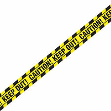 Halloween Decorations Yellow Caution Keep Out Warning TAPE Halloween Fright Tape