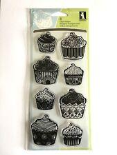 8 X conjunto de sello de InkaDinkaDo claro - 60-30338 Estampado Cupcakes