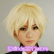 Butler Alois Trancy Straight Short Blonde Cosplay Anime Wig + Free Hairnet