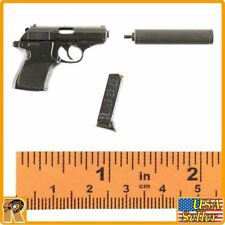 Spectre James Bond - Walther Pistol w/ Silencer #1 - 1/6 Scale Black Box Figures