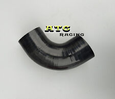 """Silicone 90 Degree Elbow ID 3"""" inch 76mm Connector Joiner Turbo Hose Pipe BLACK"""