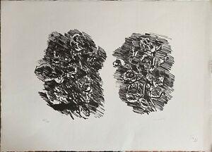 Ennio MORLOTTI litografia ROSE 55x40 firmata numerata 35/75 anno 1968