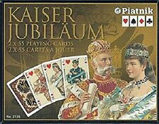 Kaiser Jubilaum Playing Cards Non-Standard Double Deck by Piatnik New Sealed