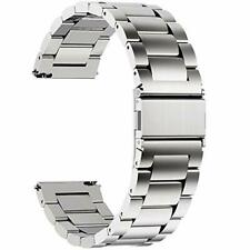 Fullmosa Watch Strap Quick Release Stainless Steel Watch Band 22 mm Silver