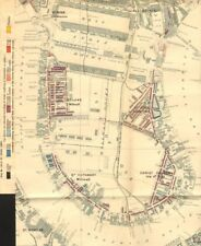 ISOLA DEI CANI. Charles Booth la povertà MAP. Canary Wharf Milwall cubitt Town 1902