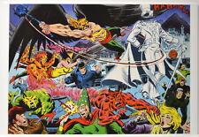 HAWKMAN  HAWKGIRL & ATOM vs GENTELMAN GHOST FELIX FAUST & VILLAINS Poster DC