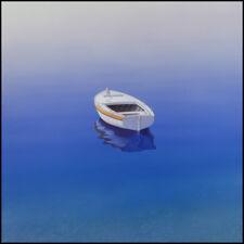 Boat paintings BAY VISTA Coastal art beach house living rooms blue seascape art
