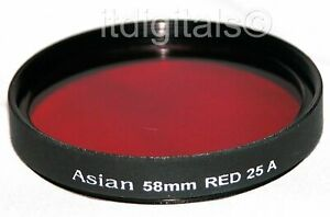 77mm Red Color Filter #25 B&W Film Digital 25A 25-A 77 mm  REd 25 A