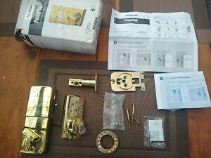 Kwikset Powerbolt 2 Polished Brass Electronic Deadbolt Smartkey Lock READ