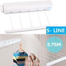 Heavy Duty Retractable 5 Line Hang-drying Rack Wall Mountable Clothes line AL