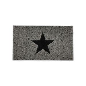 Modern Grey Star Door Mat Non Slip Machine Washable Kitchen Mats Absorbent Rugs