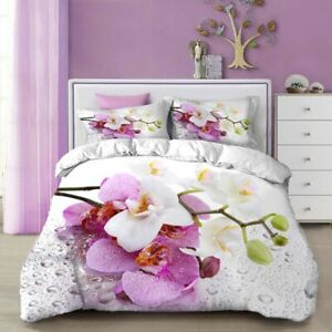 King Size Queen Size Comforter Sets Printing Flower Home Textiles 3d Bedding Set