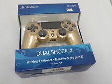 PlayStation 4 DualShock 4 Wireless Controller With Box - Gold (CUH-ZCT2U) #XX