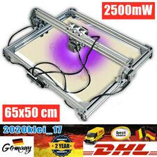 2500mW CNC Laser Graviermaschine Drucker Lasergravurgerät DIY Engraver 65x50cm