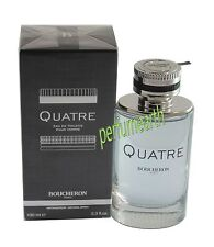 Quatre by Boucheron Eau De Toilette 3.4/3.3 oz  Spray For Men New In Box