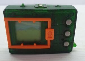 Retro 1997 original Digimon Tamagotchi Bandai green with orange frame works
