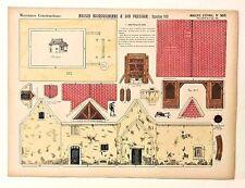 Pellerin Imagerie D'Epinal-905 Moyennes Maison Bourguignonne vintage paper model