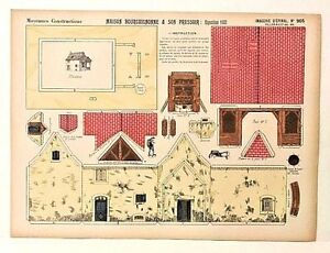 Imagerie D'Epinal No 905 Maison Bourguignonne/Moyennes Consrtuctions paper model