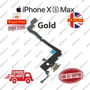 New iPhone XS Max Charging Port Flex Headphone Jack Mic Replacement Gold