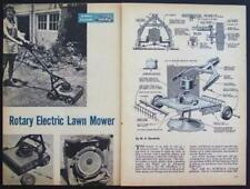 Electric Lawn Mower 1954 HowTo build Plans Quiet