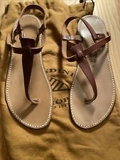 Rondini St. Tropez Salome Brown Leather Sandal  7