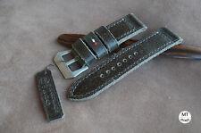 Cinturino artigianale 26mm Leather Watch Strap Vintage Handmade Pam Italy 26